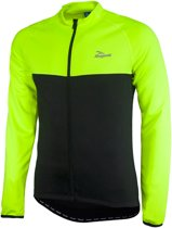 Rogelli Caluso Fietsshirt - Heren - Lange Mouwen - S - Zwart/Fluor