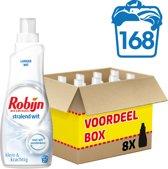 Robijn Klein & Krachtig Stralend Wit - 168 wasbeurten - wasmiddel - voordeelverpakking