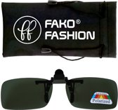 Fako Fashion® - Clip On Voorzet Zonnebril - Polarized - 134x43mm - Groen