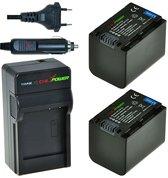 ChiliPower NP-FV70 Sony (2 accu's + lader + 12V autosnoer)