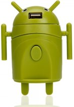 Android-stijl multifunctionele reisstekker-adapter Groen