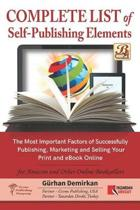 Complete List of Self Publishing Elements for Amazon and Other Online Booksellers