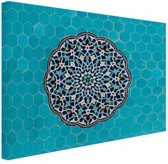 Turkooise mozaiek Midden-Oosten Canvas 60x40 cm - Foto print op Canvas schilderij (Wanddecoratie)