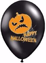 Happy Halloween ballonnen 6 stuks - Halloween versiering
