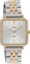 OOZOO Vintage C9954 Rosékleurig Zilverkleurig Horloge 29x29mm