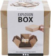 Explosion box, afm 7x7x7,5+12x12x12 cm, 1 stuk, takje