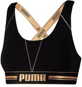 Puma - *limited edition* cross back bra zwart / goud - s