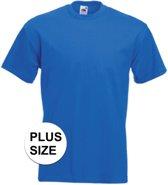Grote maten basic kobalt blauw t-shirt voor heren - voordelige katoenen shirts 3XL (46/58)