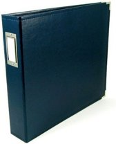 """We R Memory Keepers faux leather album 12x12"""" navy - 1 stuk"""