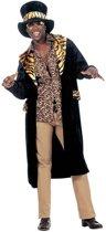 Pooier Kostuum | Big Daddy, Fluweel King Of Pimps Kostuum Man | XL | Carnaval kostuum | Verkleedkleding