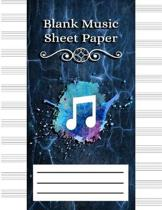 Blank Music Sheet Paper: Music Manuscript Paper, Staff Paper, Musicians Notebook 12 Staves Awesome Blue Marble Cover (Music Composition Noteboo