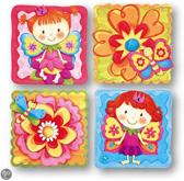 Stickerset met bloemen meisje CBA2047