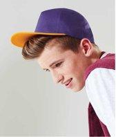 Beechfield kinder baseball cap  Zwart/rood
