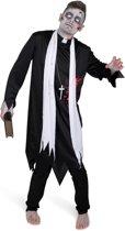 Zombie priester kostuum voor mannen - Verkleedkleding