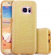 Samsung Galaxy S7 Hoesje - Glitter Backcover - Goud