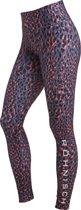 Rohnisch Flattering Printed Tights Dames Sportlegging - Coral Spot - Maat S