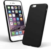 iPhone 8 Plus zwart siliconen hoesje - matte zwart