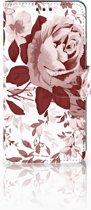 Huawei P30 Uniek Boekhoesje Watercolor Flowers