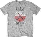 Pink Floyd - The Wall Faded Hammers Logo heren unisex T-shirt zwart - M
