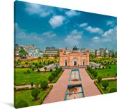 Een fort in Dhaka Canvas 30x20 cm - klein - Foto print op Canvas schilderij (Wanddecoratie woonkamer / slaapkamer) / Aziatische steden Canvas Schilderijen