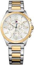Tommy Hilfiger TH1781607 horloge dames - zilver en goud - edelstaal