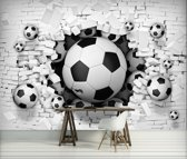 Football Through The Wall Photo Wallcovering