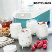 InnovaGoods Vintage Yoghurtmaker met 6 Potjes 1 L 20W Wit Turquoise