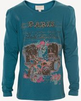 Creamie - meisjes shirt - lange mouwen - model Nicole - maroccan Blue - Maat 116