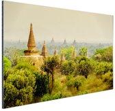 Bagan tempels in Myanmar Azie Aluminium 30x20 cm - klein - Foto print op Aluminium (metaal wanddecoratie)