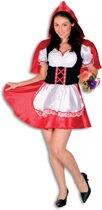 Roodkapje Kostuum   Roodkapje Uit Een Sprookje   Vrouw   Maat 46   Carnaval kostuum   Verkleedkleding