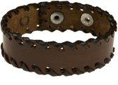 Leren armband | Chocolate wrapper