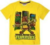 Ninja-Turtles-T-shirt-met-korte-mouw-geel - Maat 134