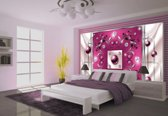 Pink | Silver Photomural, wallcovering