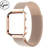 Milanees Fitbit Blaze Bandje – One-size - RVS Milanees Watchband voor de Activity Tracker – Rosegoud (Rose Gold) – Band met Magneetsluiting