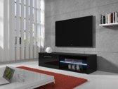 Meubella - TV-meubel Bash LED - Zwart - 120 cm