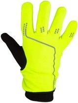 Sporthandschoenen - Mountainbike Fietsen Hardlopen - Handschoenen Sport - Touchscreen Reflectie - Anti-Slip Grip - Unisex - Zwart / Geel - Maat L / XL