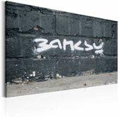 Schilderij - Banksy handtekening