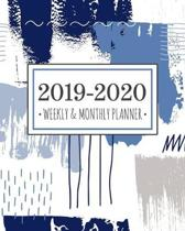 2019-2020 planner abstract blue: Abstract Blue Diary Agenda Calendar Schedule Organizer - Sept 2019 through December 2020