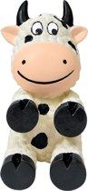 Kong Wiggi Cow - Hond - Speelgoed - Small - Zwart/Wit