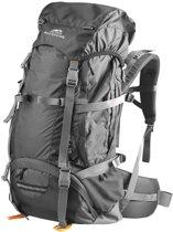 Dutch Mountains - Backpack Maas 55 +10liter - Rugtas Outdoor - Rugventilatie + regenhoes - Lichtgewicht Zwart