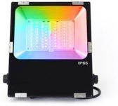 MI-LIGHT LED Breedstraler 50W RGB+CCT IP65 Zwart