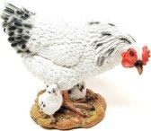 Kip beeldje met kuikentjes – tuinbeelden kippen en kuikens decoratie   GerichteKeuze