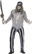Halloween Piraten spook kostuum voor heren 48-50 (m)