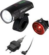 Sigma Sportster/Mono Led Fiets Verlichtingsset USB - Zwart