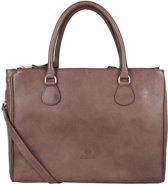 Fred de la Bretoniere Handtas Handbag Large Smooth Leather Bruin