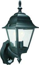 Smartwares ES94 - Wandlamp / buitenlamp  - met bewegingsmelder - klassiek - zwart