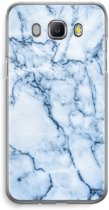 Samsung Galaxy J5 (2016) Transparant Hoesje (Soft) - Blauw marmer