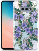 Galaxy S10e Hoesje Purple Flowers