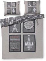 Zzzacht Parijs - dekbedovertrek - litsjumeaux - 240x200/220 - Grijs