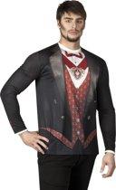 3 stuks: Fotorealistisch shirt - Vampier - Medium